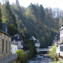 Der Fluss Rur in Monschau