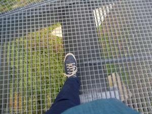 Aussichtsplattform Biggesee: freier Blick nach unten